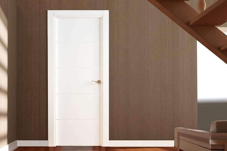 Puertas de interior lacadas en blanco - Sarmiento